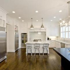 Industrial Kitchen Hardware Wooden Set Built In Banquette - Transitional Oxford ...
