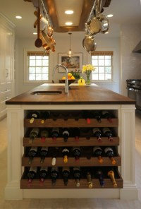 Kitchen Island Wine Rack - Traditional - kitchen - Bakes ...