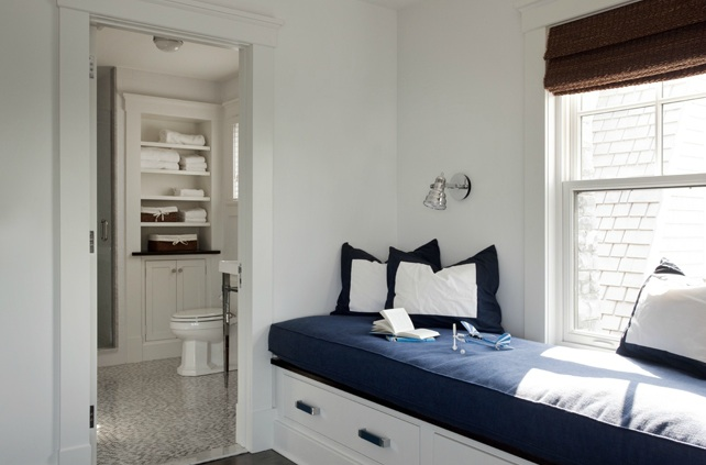 Built In Window Seat Cottage Bedroom LDa Architects