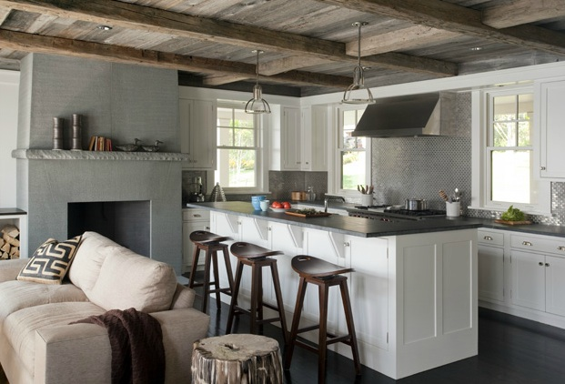 Rustic Plank Ceiling Cottage Kitchen Lda Architects