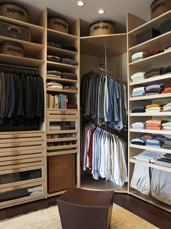 Mens Walk In Closet Contemporary Closet LA Closet Design