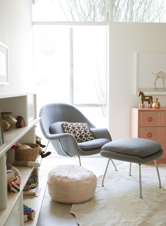 Gray Womb Chair  Eclectic  nursery  The Brick House