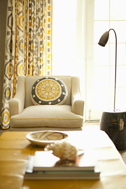 Gray And Yellow Drapes Design Ideas