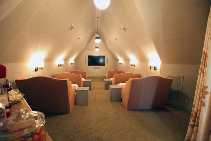 throw pillows on leather sofa home decorators sleeper movie room design ideas