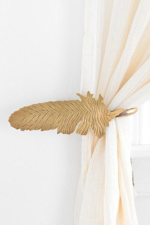 Plum And Bow Gold Wing Curtain Tie Back