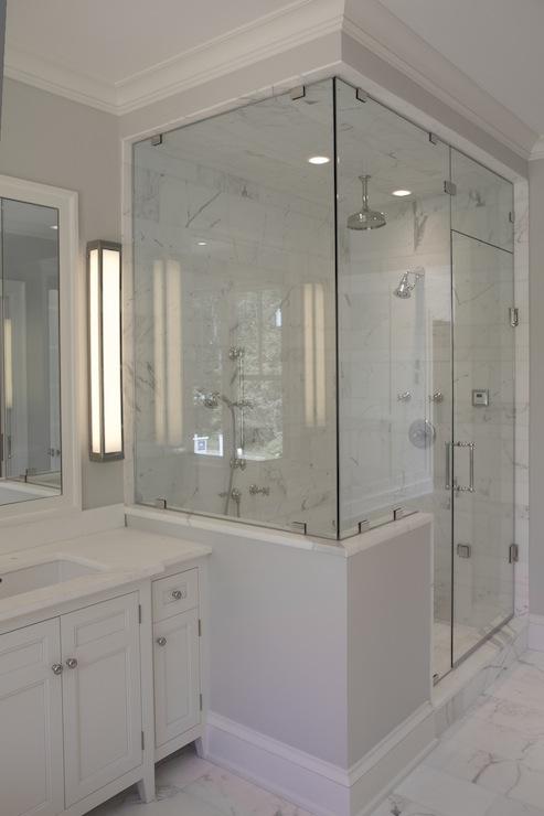 Enclosed Glass Shower  Contemporary  bathroom  Jillian