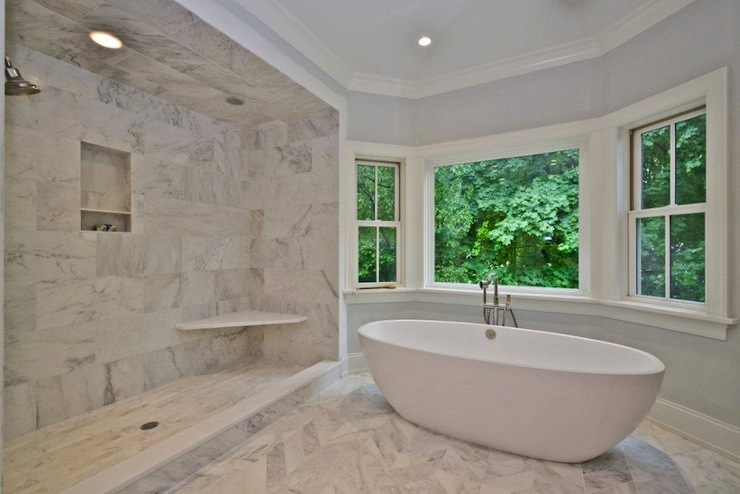 Marble Master Bathroom  Contemporary  bathroom  Jillian
