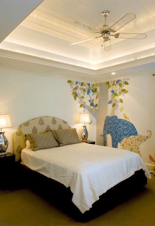 Lucite Ceiling Fan  Contemporary  boys room  Herlong  Associates