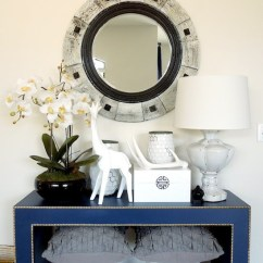 Sofa Nailhead Ligne Roset Bed Ebay Blue Console Table - Eclectic Entrance/foyer Valspar ...