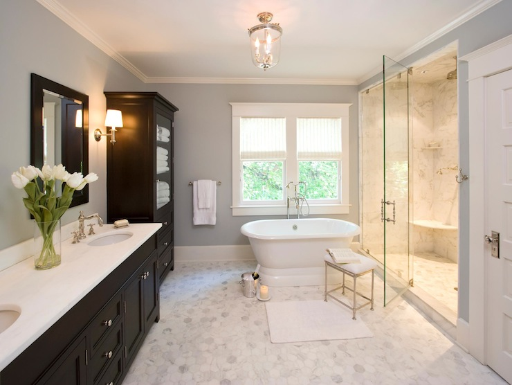 Espresso Bathroom Cabinet Design Ideas