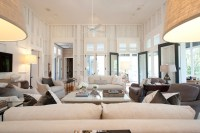 French Doors in Living Room - Transitional - living room ...