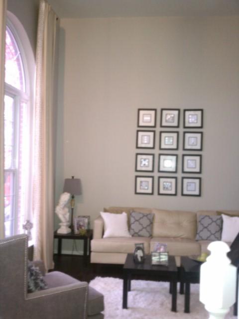 Living Room Benjamin Moore Revere Pewter