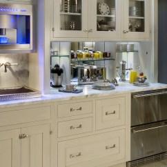 St Charles Steel Kitchen Cabinets Modern For Sale Hidden Breakfast Station - Contemporary ...