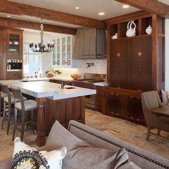 living room wall paint finish black slate floor distressed wood countertops - design, decor, photos ...