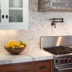 Antique Brass Kitchen Hardware Virtual Remodel Calcutta Marble Subway Tile Backsplash Design Ideas
