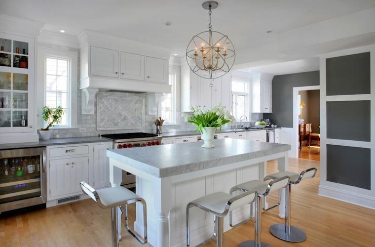 Gray Countertops Contemporary Kitchen Benjamin Moore