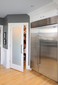 Frosted Glass Pantry Door - Contemporary - kitchen ...