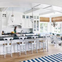 Kitchen Island With Bar Stools Renew Cabinets Beadboard Ceiling - Cottage Sherwin ...
