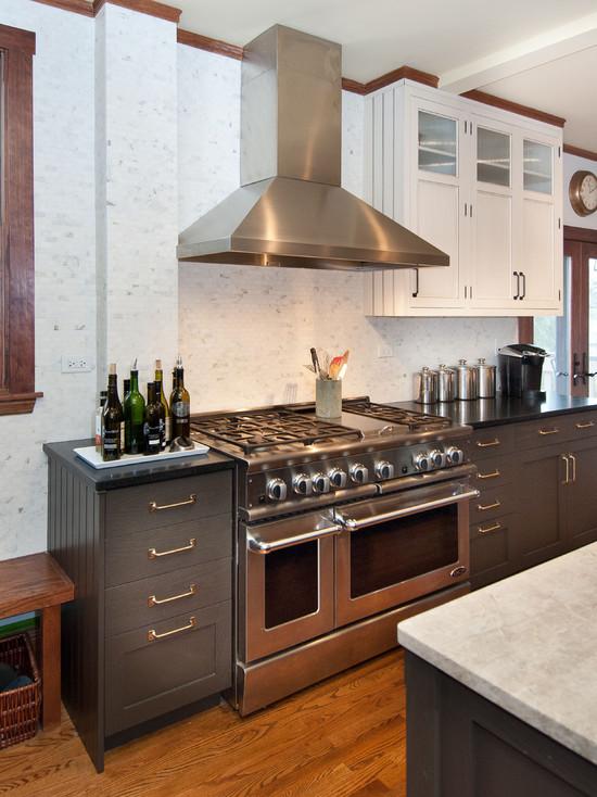 Dark Gray Kitchen Cabinets Transitional Kitchen