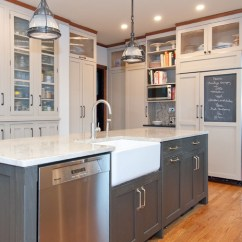 Built In Kitchen Seating Refurbished Appliances Chalkboard Refrigerator Door - Vintage Lab