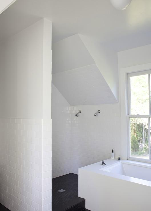 Attic Bathroom Sloped Ceiling Design Ideas