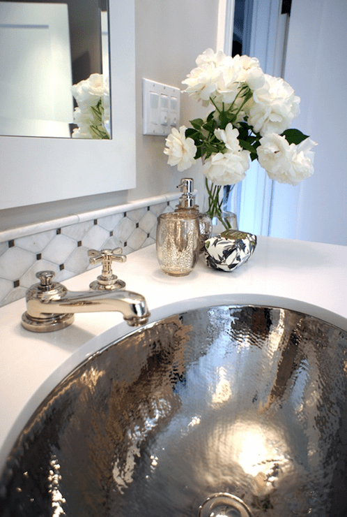 Hammered Metal Sink  Transitional  bathroom  Tamara