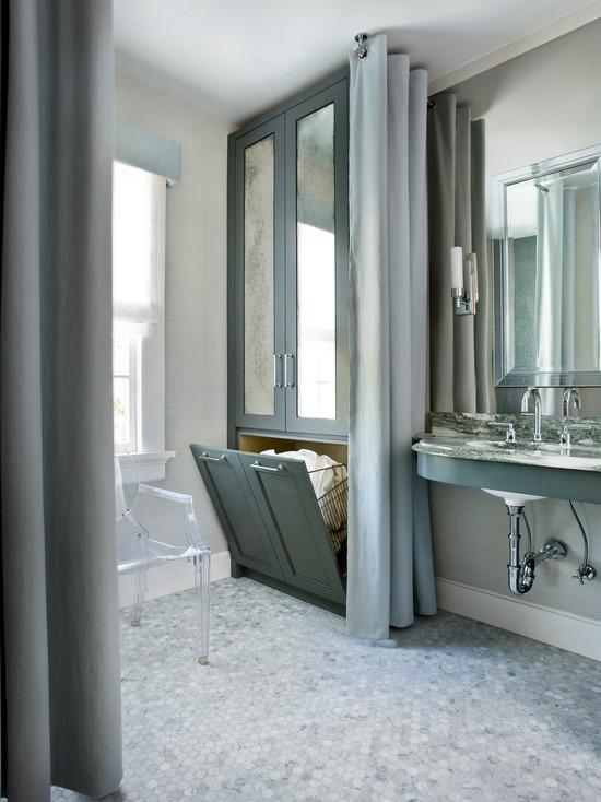 Built In Cabinet Hamper Design Ideas