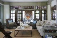 French Doors and Transom Windows - Transitional - living ...