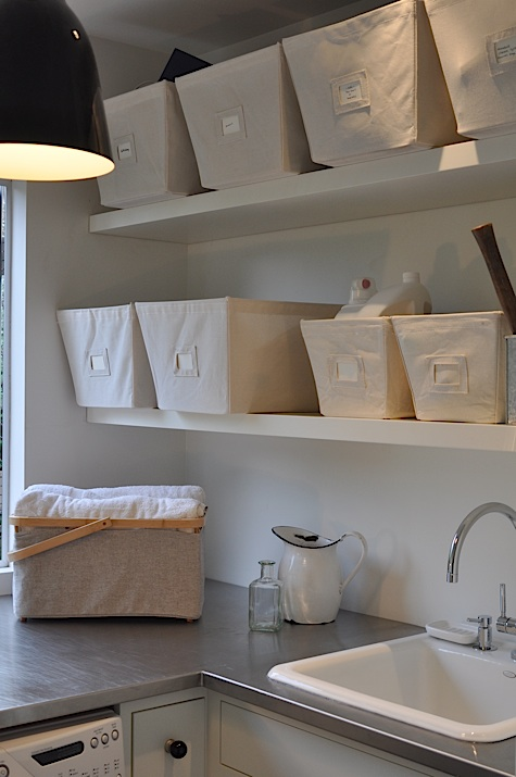 Friends Boy And Girl Wallpaper Laundry Shelves Modern Laundry Room Remodelista