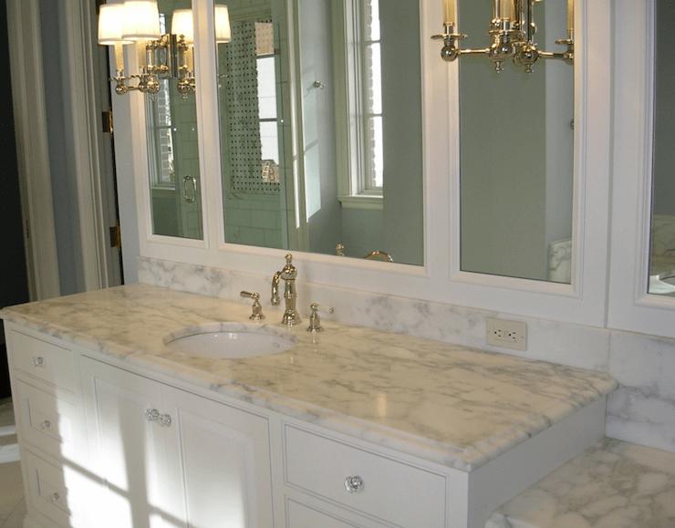 Beveled Marble Countertops Design Ideas