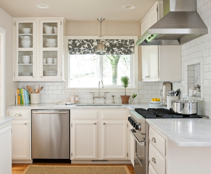 L Shaped Kitchen  Transitional  kitchen  Benjamin Moore Water Chestnut  Marianne Simon Design