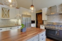 Walnut Butcher Block Countertop - Country - kitchen ...