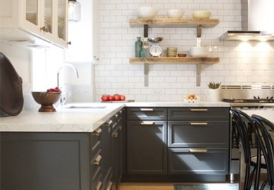 Vintage Gray Kitchen Cabinets