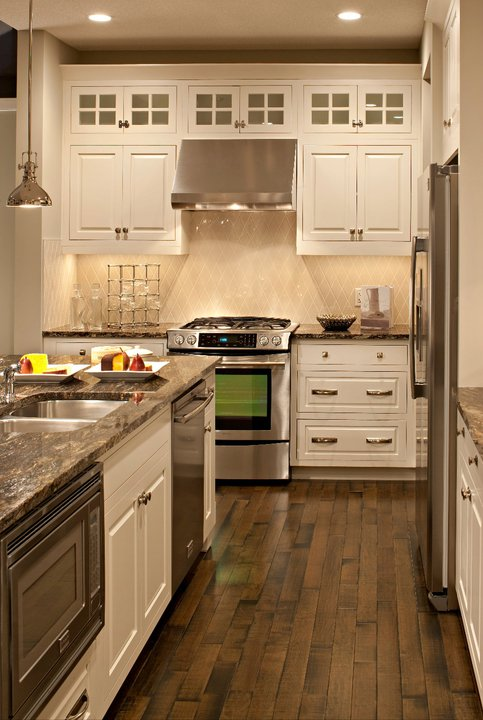 Ivory Kitchen Cabinets with Gray Granite Countertops  Transitional  kitchen  Patricia Fisher