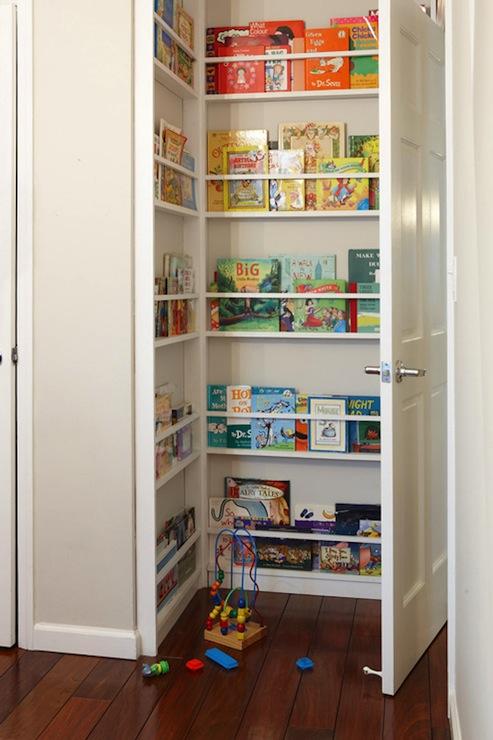 Nurseries Gray Kids Bookcase Design Ideas
