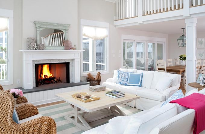 Tan And White Living Room  Design decor photos