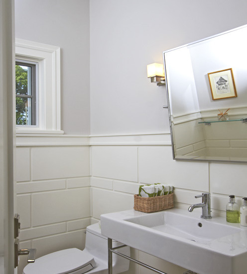 Lilac Powder Room  Contemporary  bathroom  Vicente