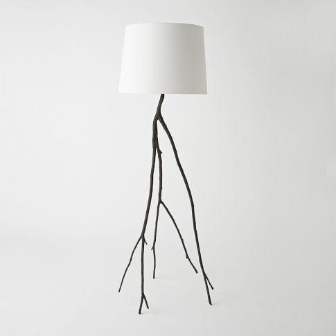 dark gray chair high graco modern branch floor lamp