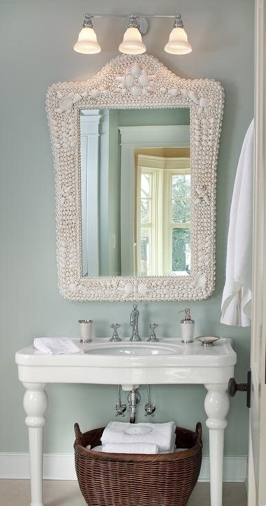 Parisian Pedestal Sink  Cottage  bathroom  Kristin Peake Interiors