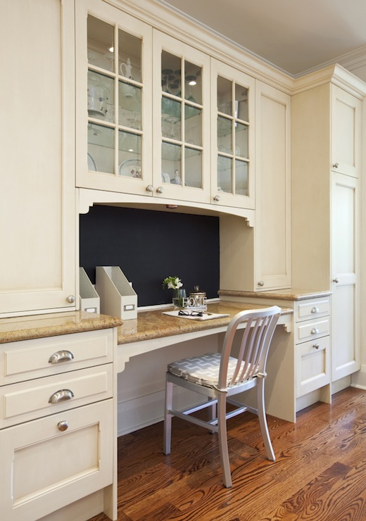 BuiltIn Kitchen Desk  Transitional  kitchen  Nest Design Studio