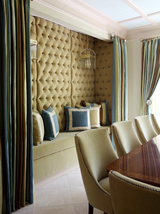 Velvet Tufted Bench  Contemporary  dining room  Tobi
