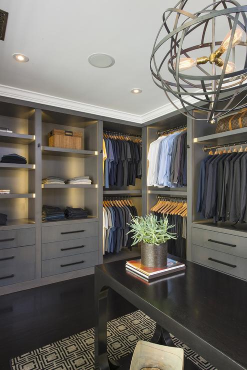 Mens Walk In Closet  Contemporary  closet  Jeff Lewis Design