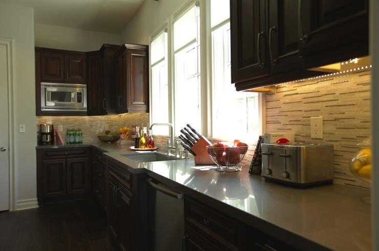 Dark Kitchen Cabinets Contemporary Kitchen Jeff
