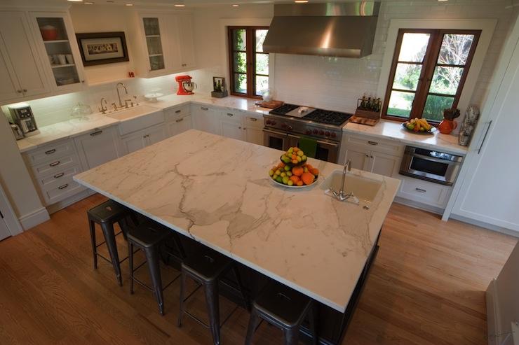 Calcutta Marble Countertop  Contemporary  kitchen