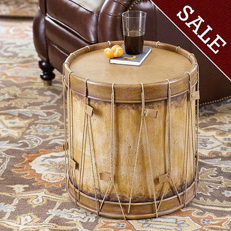 mirror living room tables wall units india drum side table - ballard designs