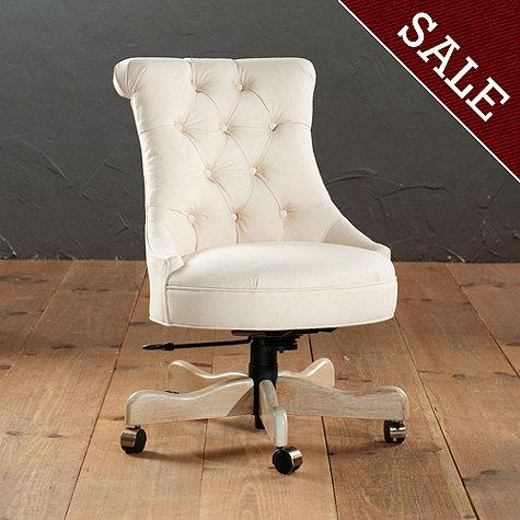 Elle Tufted Desk Chair  Ballard Designs