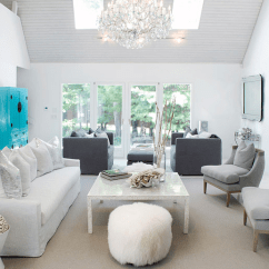 Gray And Turquoise Living Room Corner Tv White Contemporary Elsa Soyars