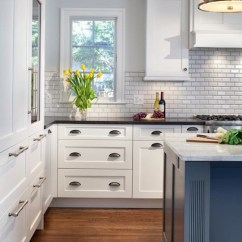 Kitchen Cabinets With Legs Aid Mixer On Sale Oyster Gray Beveled Edge Subway Tile Design Ideas