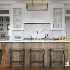 Two Tone Kitchen Island Lighting Salvaged Wood Contemporary At Home In