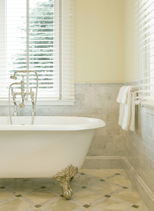 Carrara Marble Subway Tile  Traditional  bathroom  Ali